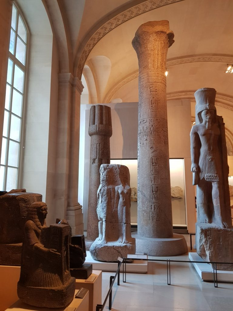 Salle du Temple, Antiquités egyptiennes du Louvre